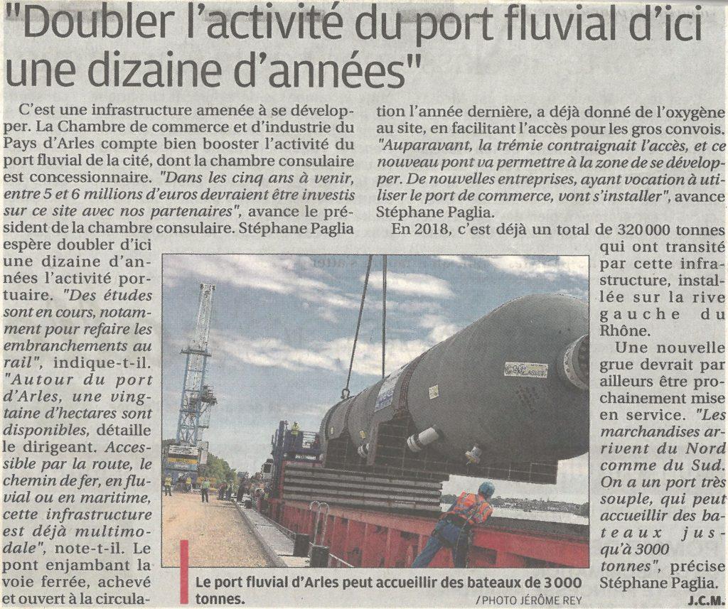 Doubler l'activité du port fluvial